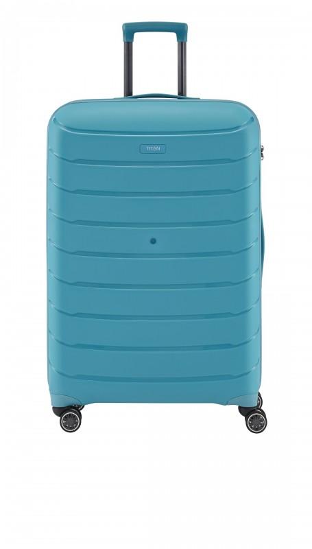 Titan LIMIT Velmi odolný rozšířitelný skořepinový kufr 68cm (Aqua Blue)