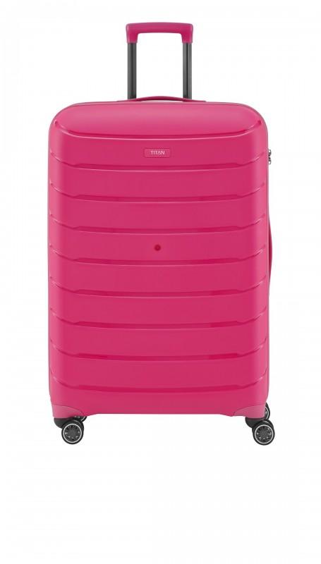 Titan LIMIT Velmi odolný rozšířitelný skořepinový kufr 68cm (Hot Pink)
