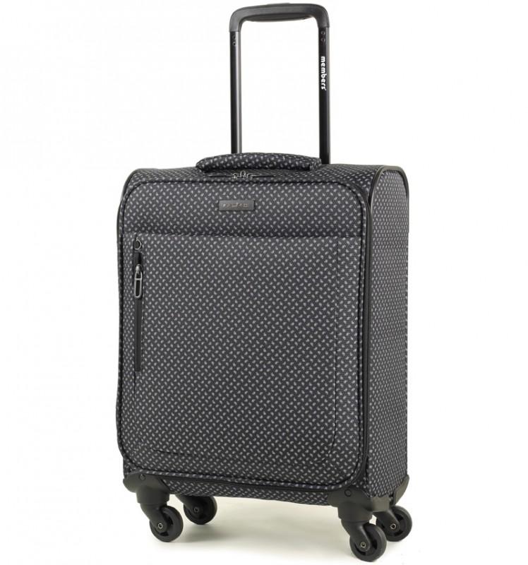 Member´s VOGUE Kabinové zavazadlo 4 kolečka 55cm (Černá/bílá)