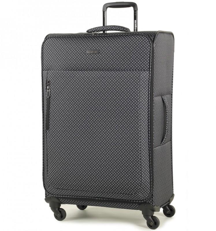 Member´s VOGUE Velký kufr na čtyřech kolečkách 78 cm (Černá/bílá)