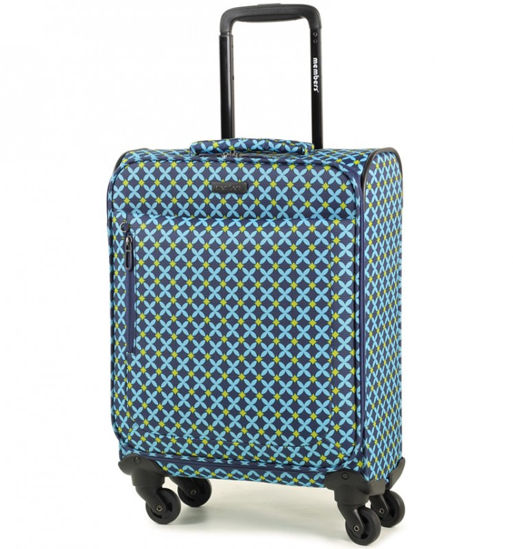 Member´s VOGUE Kabinové zavazadlo 4 kolečka 55cm (Modrá/Geo shape)