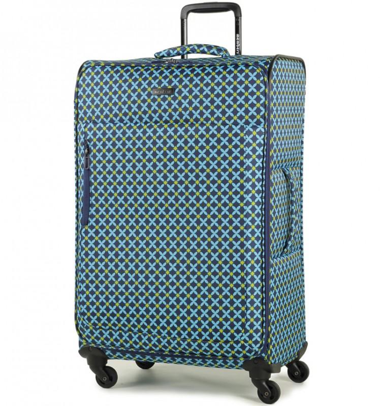 Member´s VOGUE Velký kufr na čtyřech kolečkách 78 cm (Modrá/Geo shape)