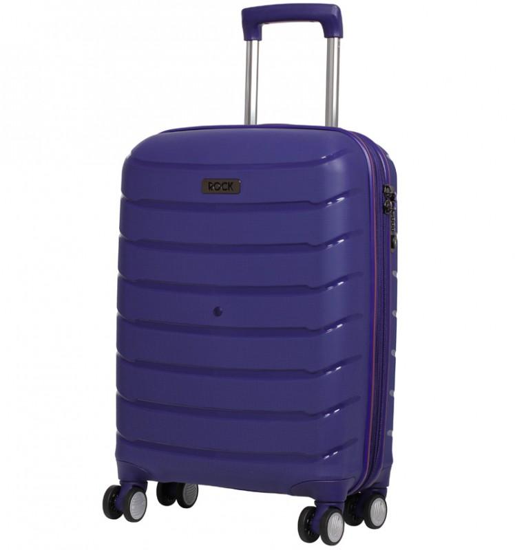 Rock SOLAR Rozšířitelné kabinové zavazadlo z polypropylenu 56cm (Modrá)