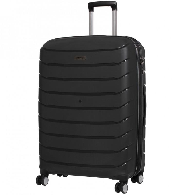 Rock SOLAR Rozšířitelný cestovní kufr z polypropylenu 66cm (Černý)