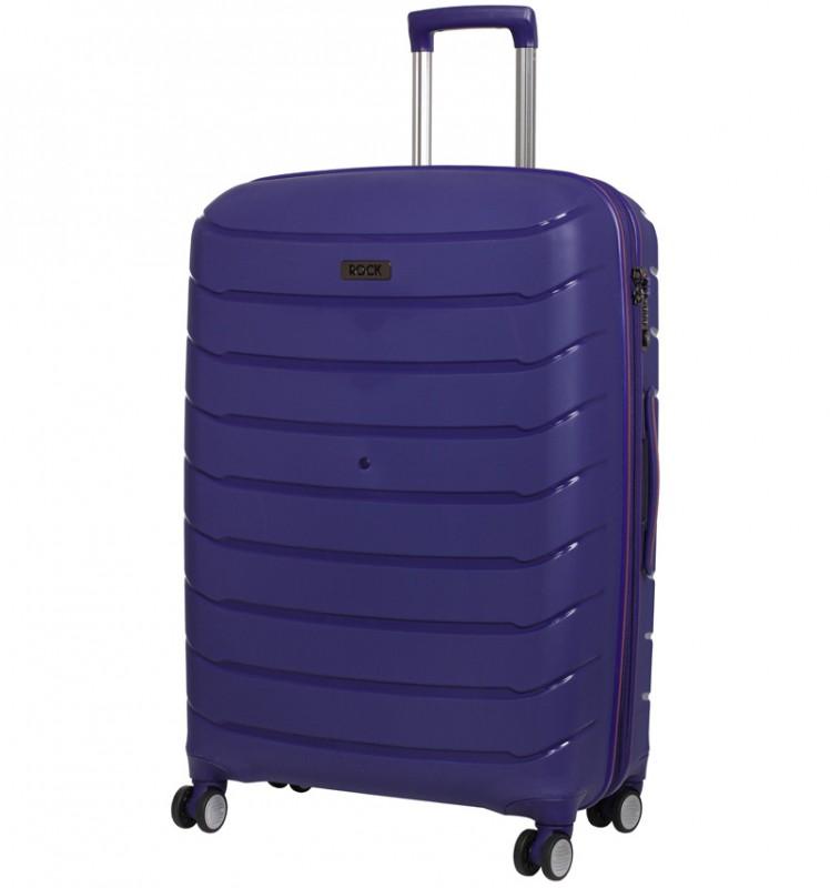 Rock SOLAR Rozšířitelný cestovní kufr z polypropylenu 66cm (Modrý)