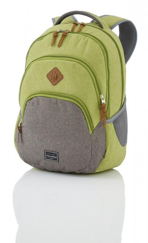 Travelite BASICS Stylový městský batoh 22 l (Green/grey)