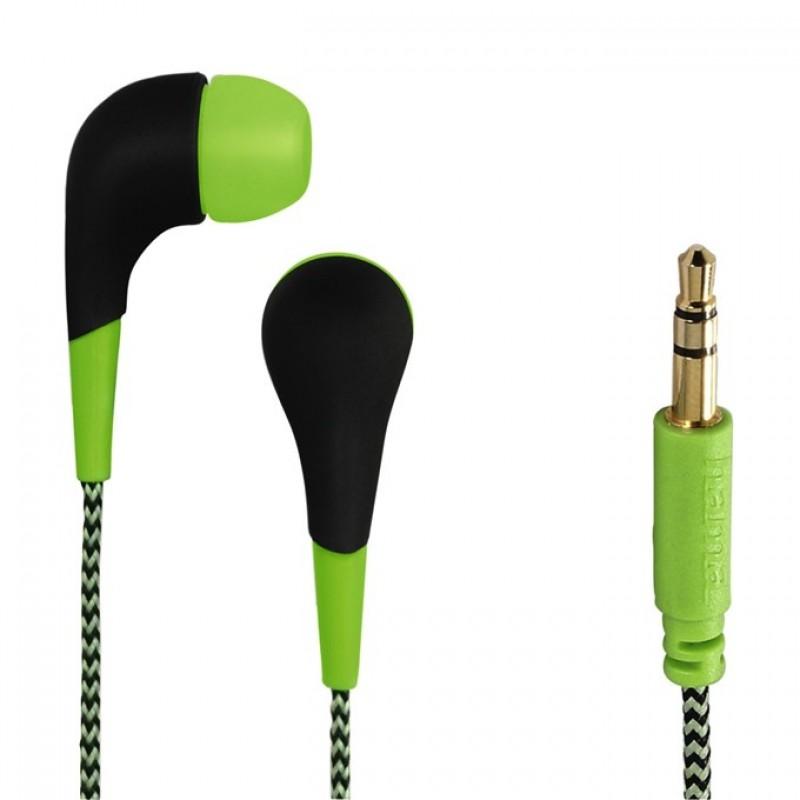 HAMA NEON Sluchátka se silikonovými špunty - Green