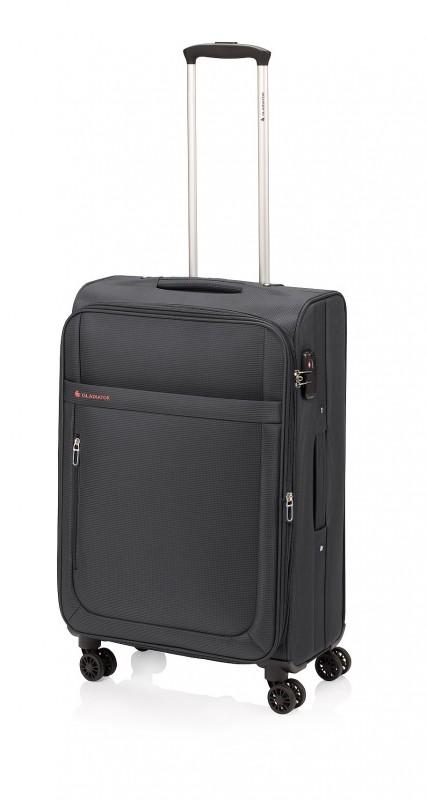Gladiator MONDRIAN Rozšířitelný kabinový kufr 55cm (Black)