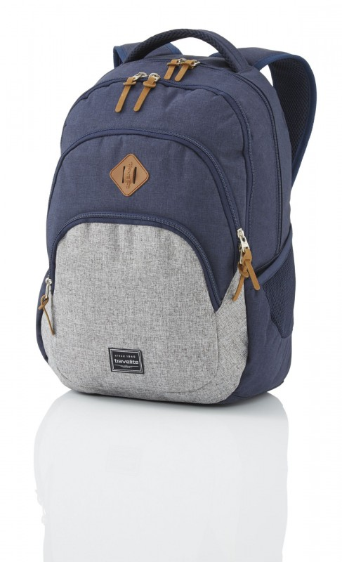 Travelite BASICS Stylový městský batoh 22 l (Navy/grey)