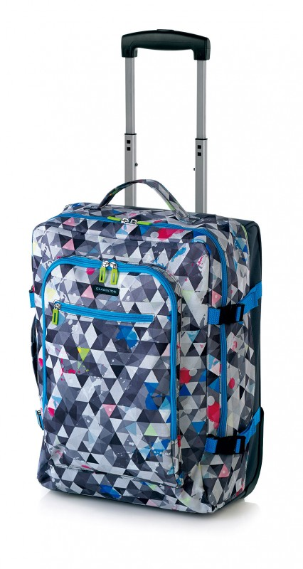Gladiator CREW Palubní kufr pro mladé cestovatele 46cm (Grey Print)