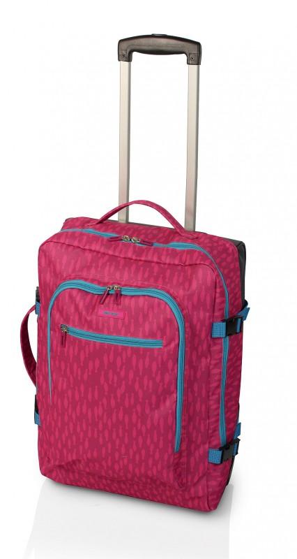 Gladiator CREW Palubní kufr pro mladé cestovatele 46cm (Fuchsia Print)