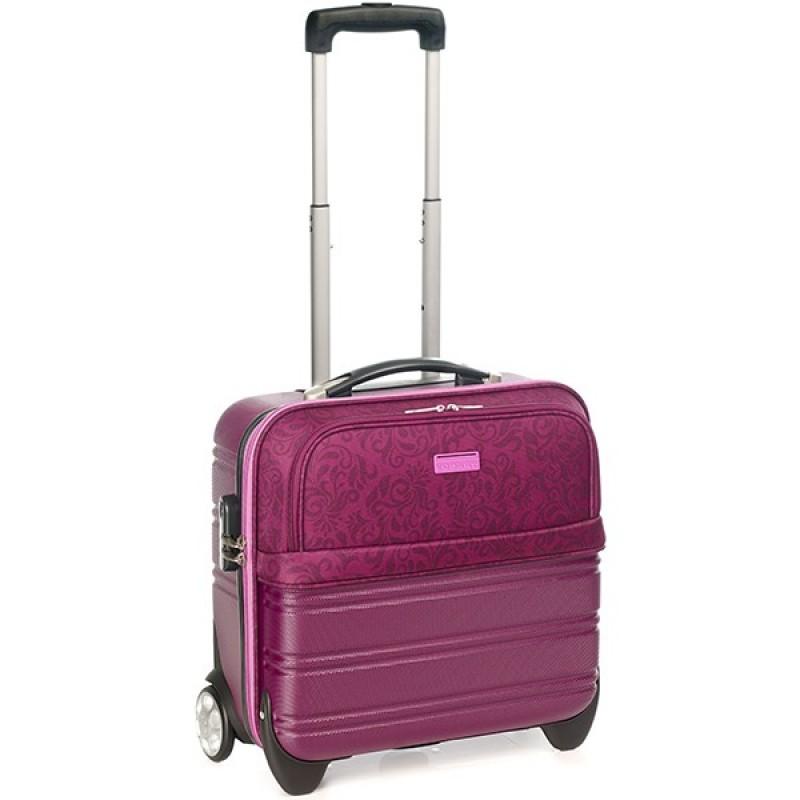 Vogart SELECT Pilotní kufr na kolečkách pro ženy (Burgundy)