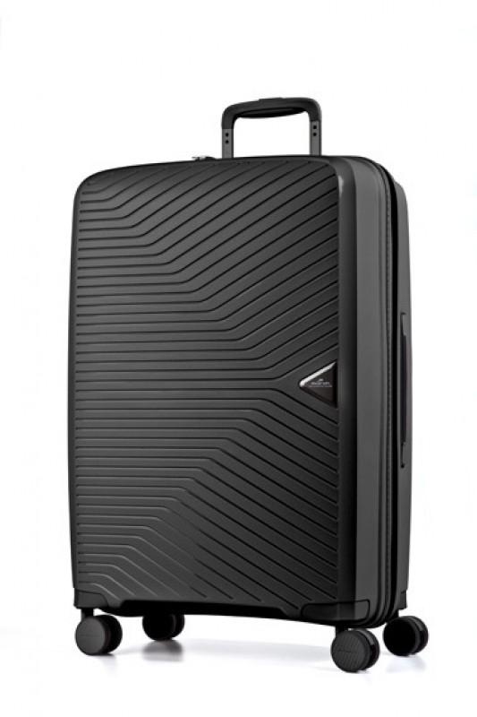March GOTTHARD Elegantní kabinový kufr z odolného polypropylenu 55cm (Black)