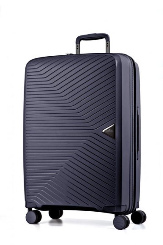 March GOTTHARD Elegantní kabinový kufr z odolného polypropylenu 55cm (Dark blue)