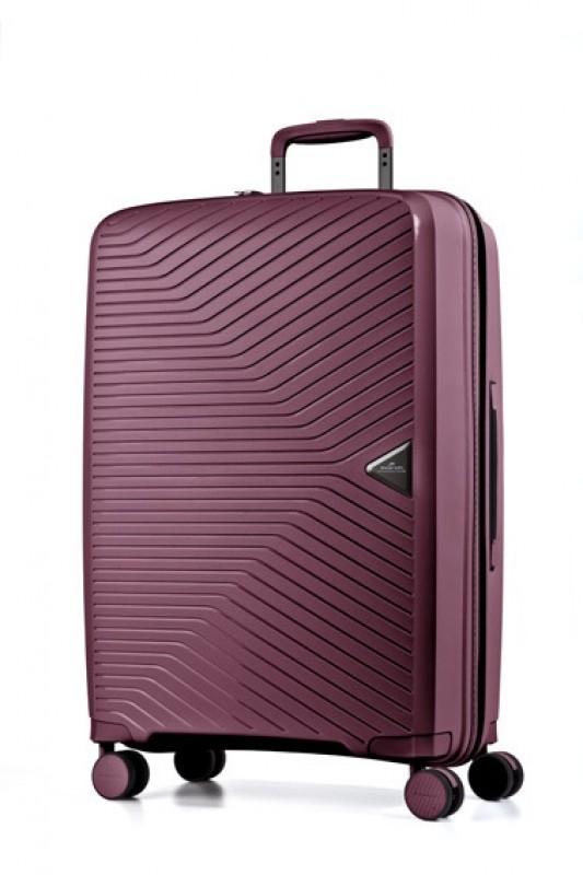 March GOTTHARD Elegantní střední kufr z odolného polypropylenu 67cm (Wine red)
