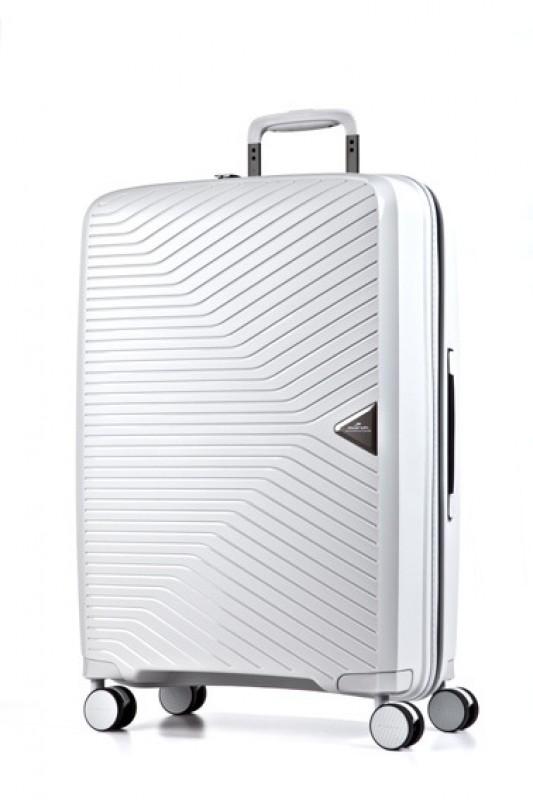 March GOTTHARD Elegantní kabinový kufr z odolného polypropylenu 55cm (White)