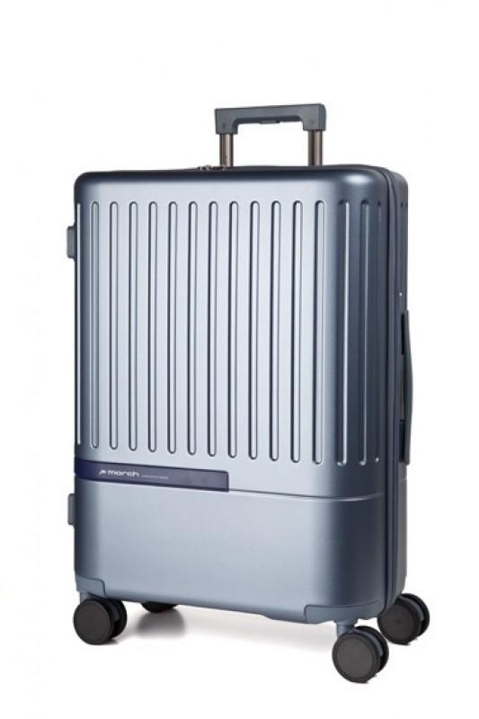 March DAYTONA Velký moderní kufr z polykarbonátu 76cm (Bluegrey/Navy)