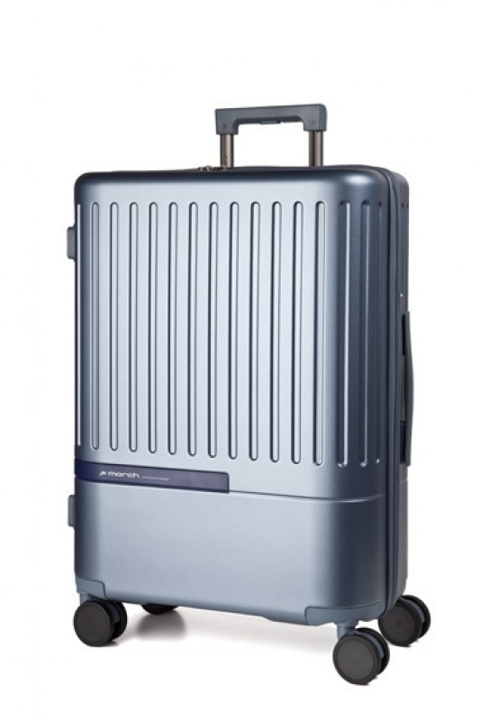 March DAYTONA Palubní moderní kufr z polykarbonátu 55cm (Bluegrey/Navy)