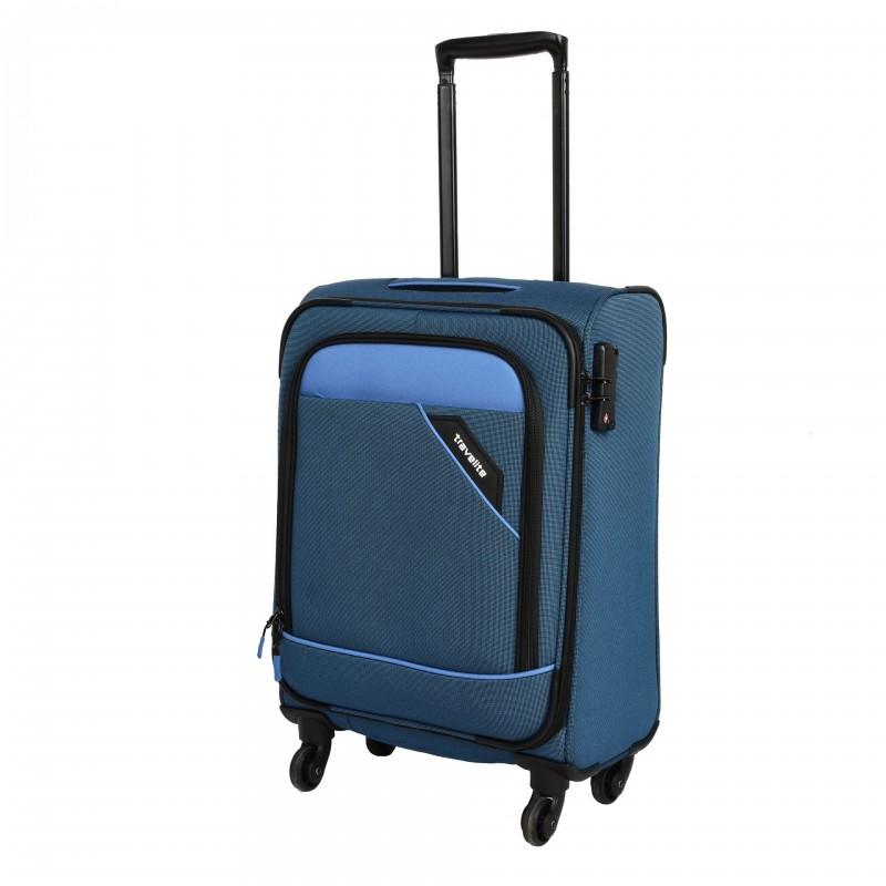 Travelite DERBY Nadčasový design palubního kufru 55cm (Blue)
