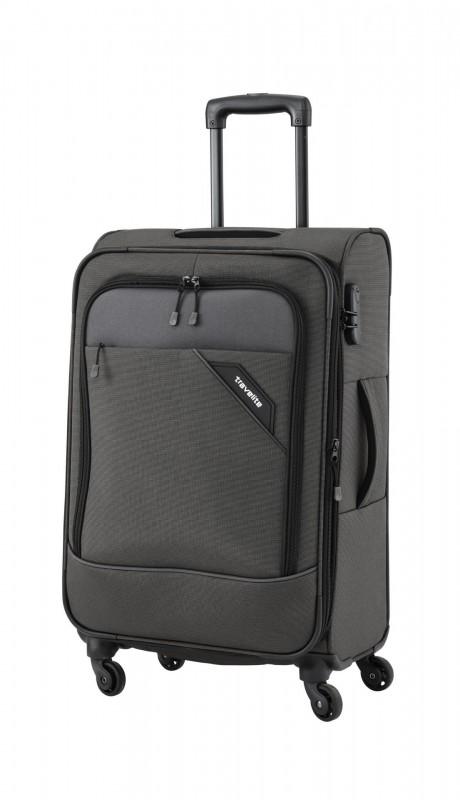 Travelite DERBY Nadčasový design středního kufru 66cm (Anthracite)