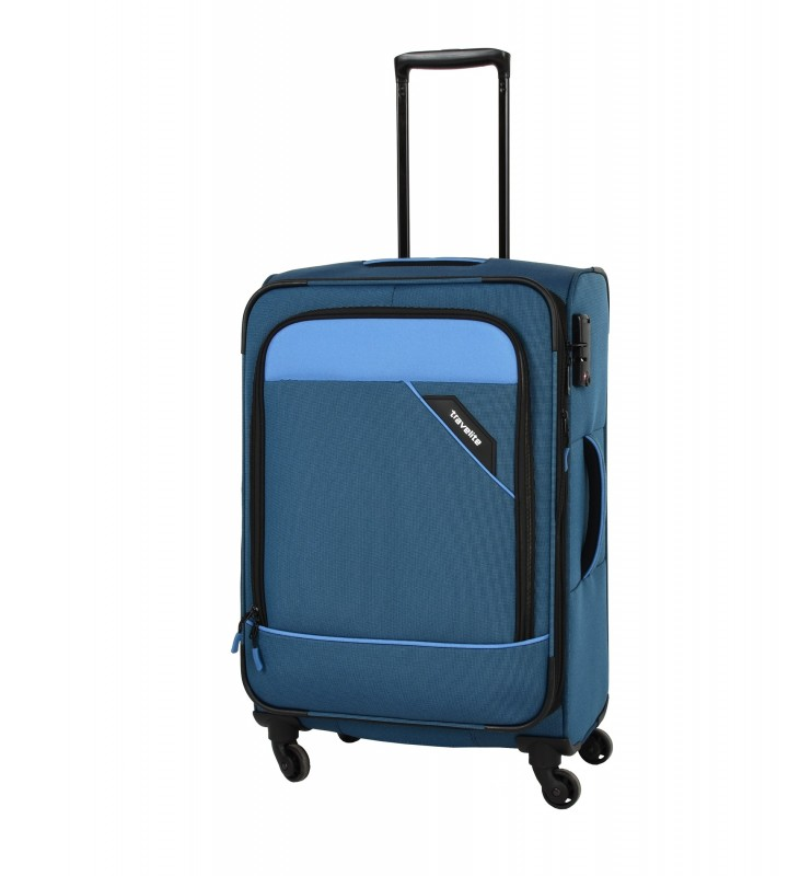 Travelite DERBY Nadčasový design středního kufru 66cm (Blue)