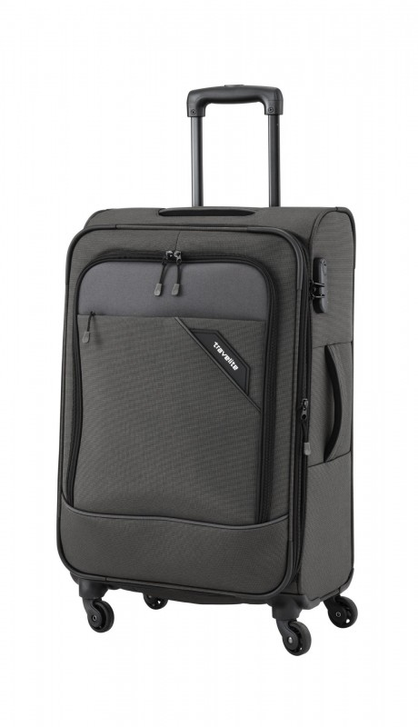 Travelite DERBY Nadčasový design velkého kufru 77cm (Anthracite)