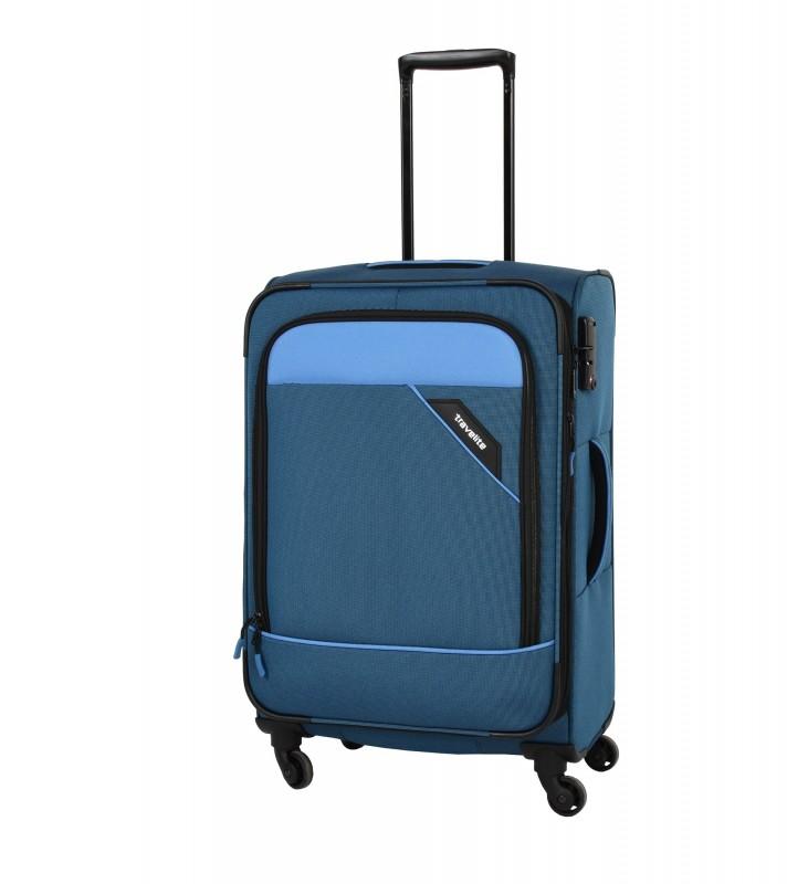 Travelite DERBY Nadčasový design velkého kufru 77cm (Blue)