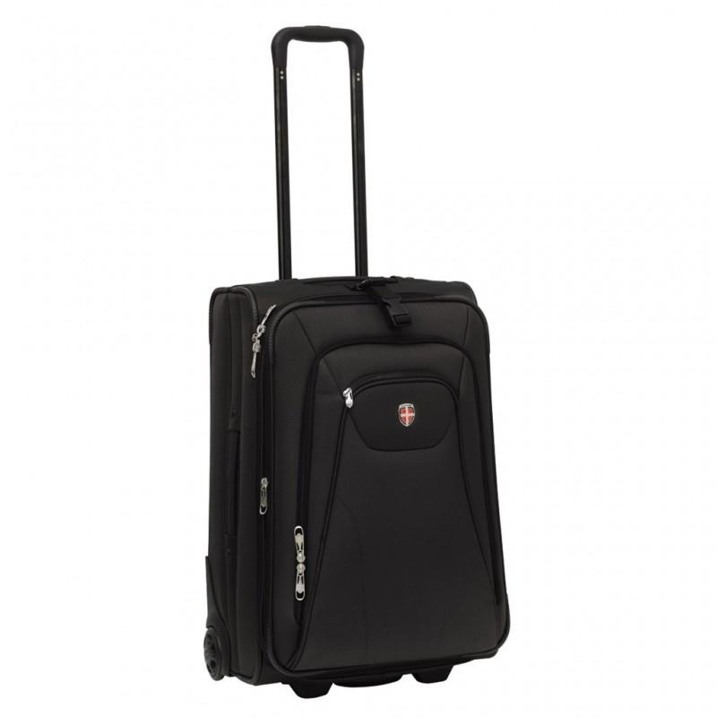 Ellehammer COPENHAGEN Cestovní kufr rozšířitelný 62cm (Black)