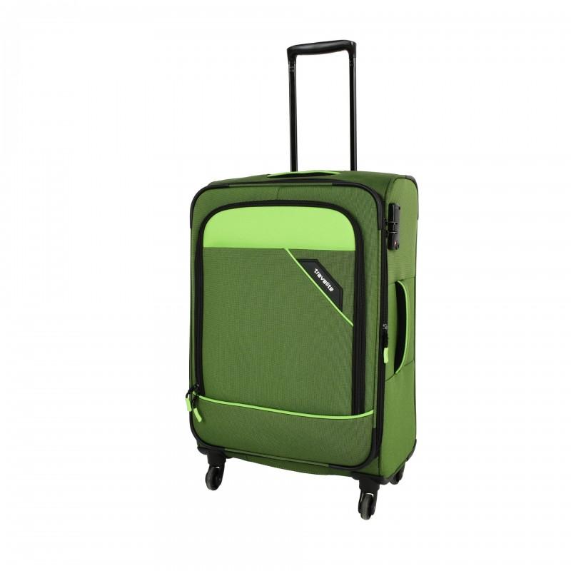Travelite DERBY Nadčasový design středního kufru 66cm (Green)