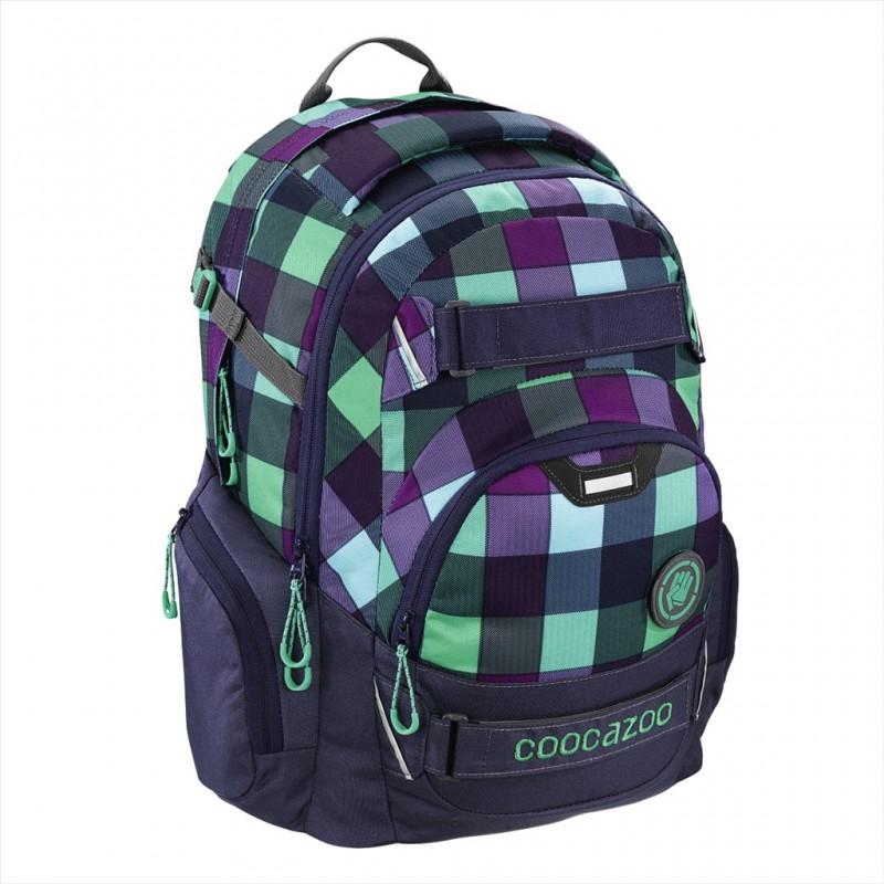 Coocazoo CARRYLARRY2 Školní batoh od 3.třídy - Green Purple District