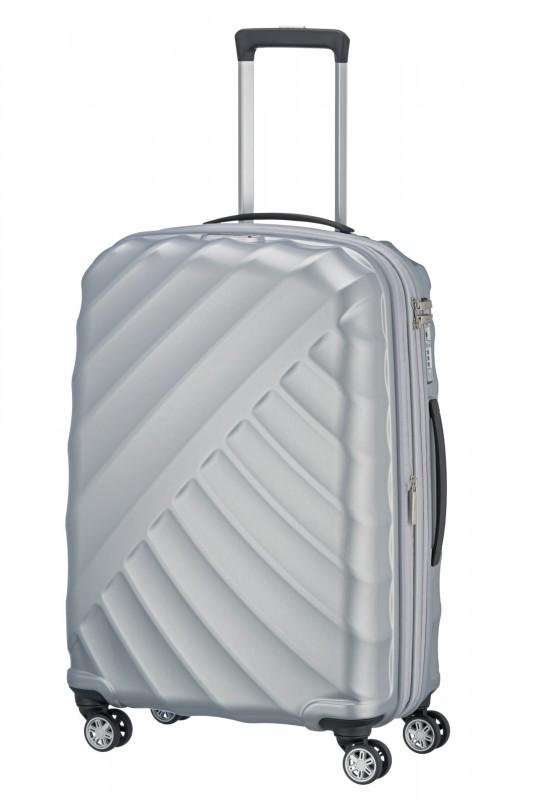 Titan SHOOTING STAR Odlehčený rozšířitelný skořepinový kufr 66cm (Silver)