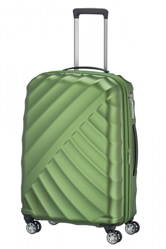 Titan SHOOTING STAR Odlehčený rozšířitelný skořepinový kufr 66cm (Green)