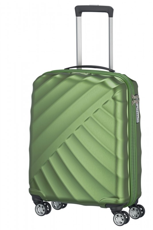 Titan SHOOTING STAR Odlehčený palubní skořepinový kufr 55cm (Green)