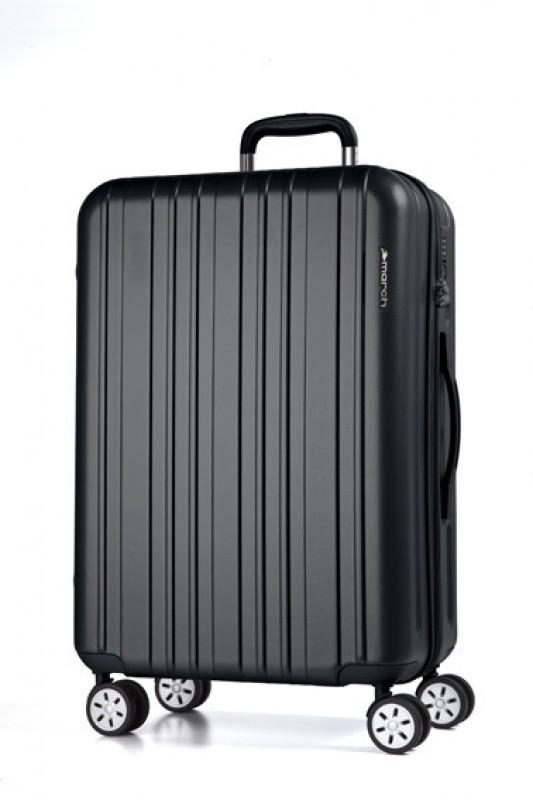 March OMEGA Jednoduchý cestovní kufr 68cm (Black)
