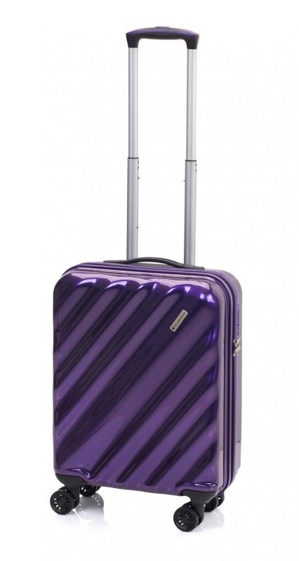 Gladiator GLAM Stylový palubní kufr s TSA 55cm (Lilac)