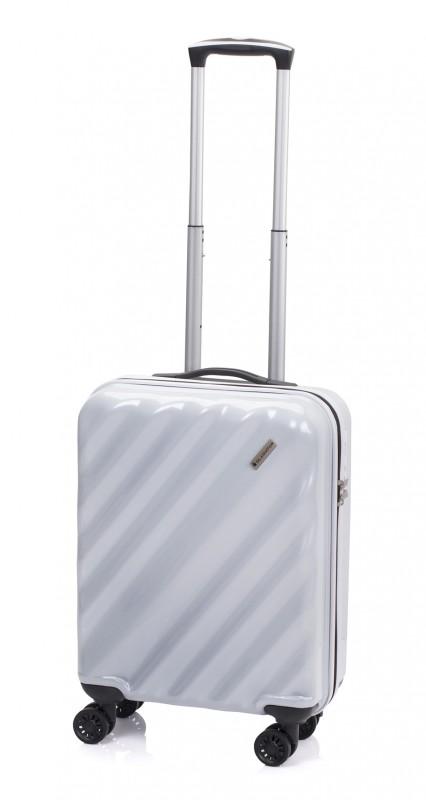 Gladiator GLAM Stylový palubní kufr s TSA 55cm (White)