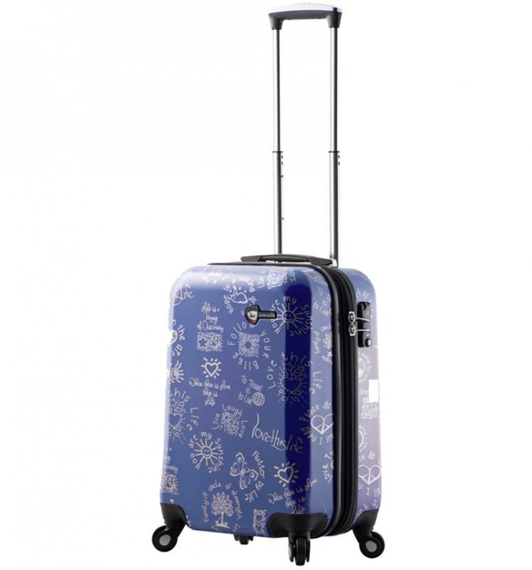 Mia Toro LOVE THIS LIFE Kabinový kufr s moderním designem 56 cm - Blue