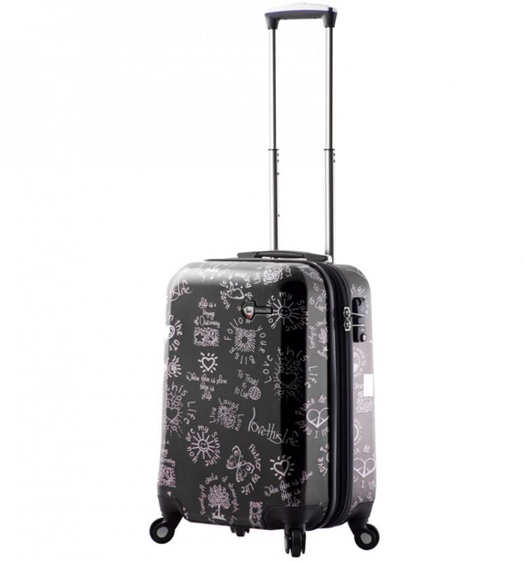 Mia Toro LOVE THIS LIFE Kabinový kufr s moderním designem 56 cm - Black