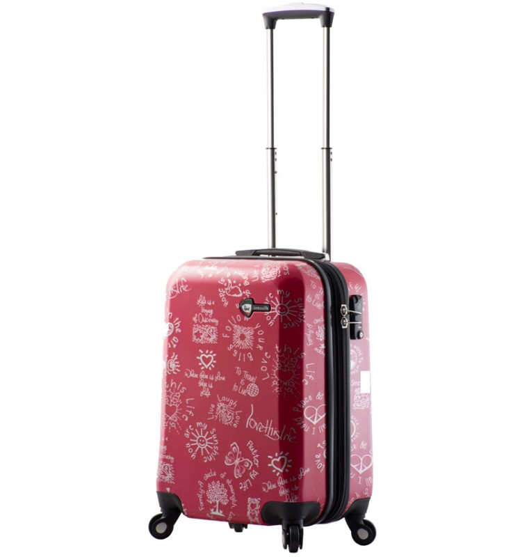 Mia Toro LOVE THIS LIFE Kabinový kufr s moderním designem 56 cm - Red