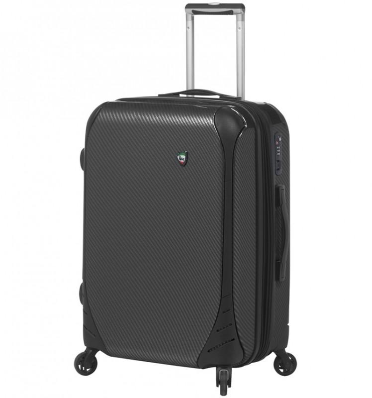 Mia Toro FIBRE Malý kufr 56 cm - Black