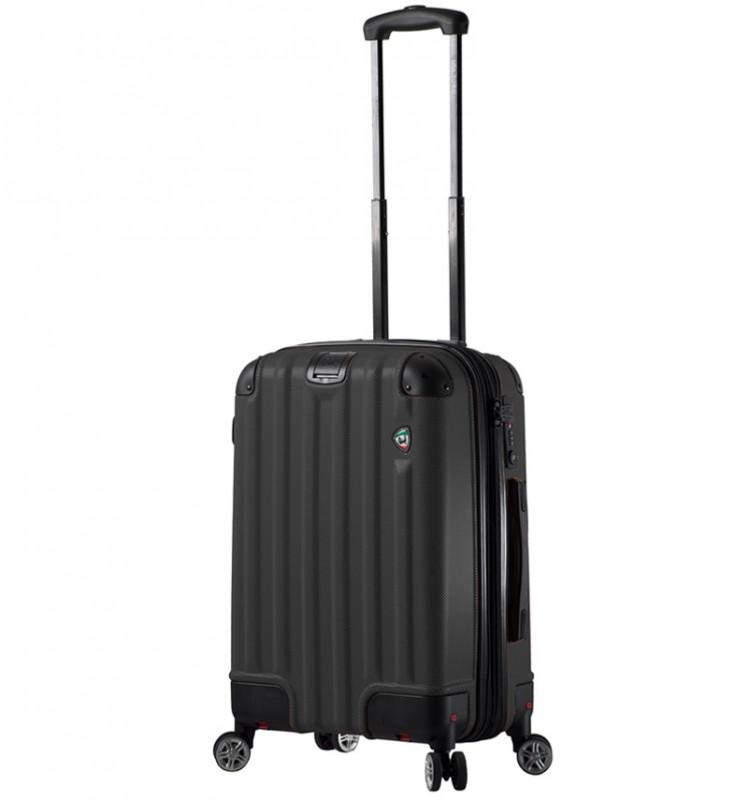 Mia Toro RUOTA Kabinový kufr se sklápěcími kolečky 60 cm - Black