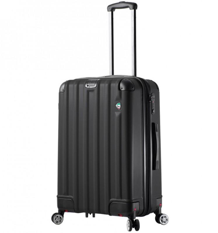 Mia Toro RUOTA Cestovní kufr se sklápěcími kolečky 70 cm - Black