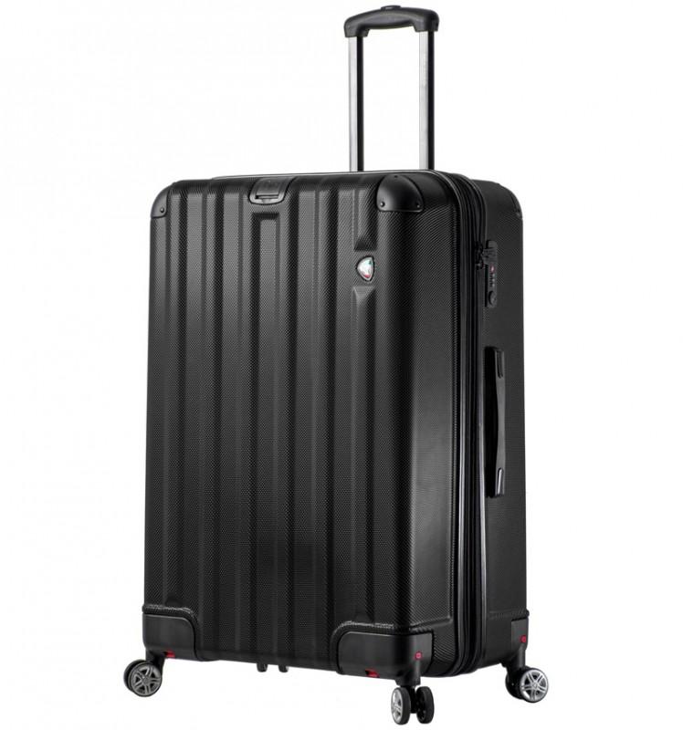 Mia Toro RUOTA Velký cestovní kufr se sklápěcími kolečky 80 cm - Black