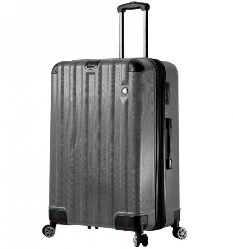Mia Toro RUOTA Velký cestovní kufr se sklápěcími kolečky 80 cm - Charcoal
