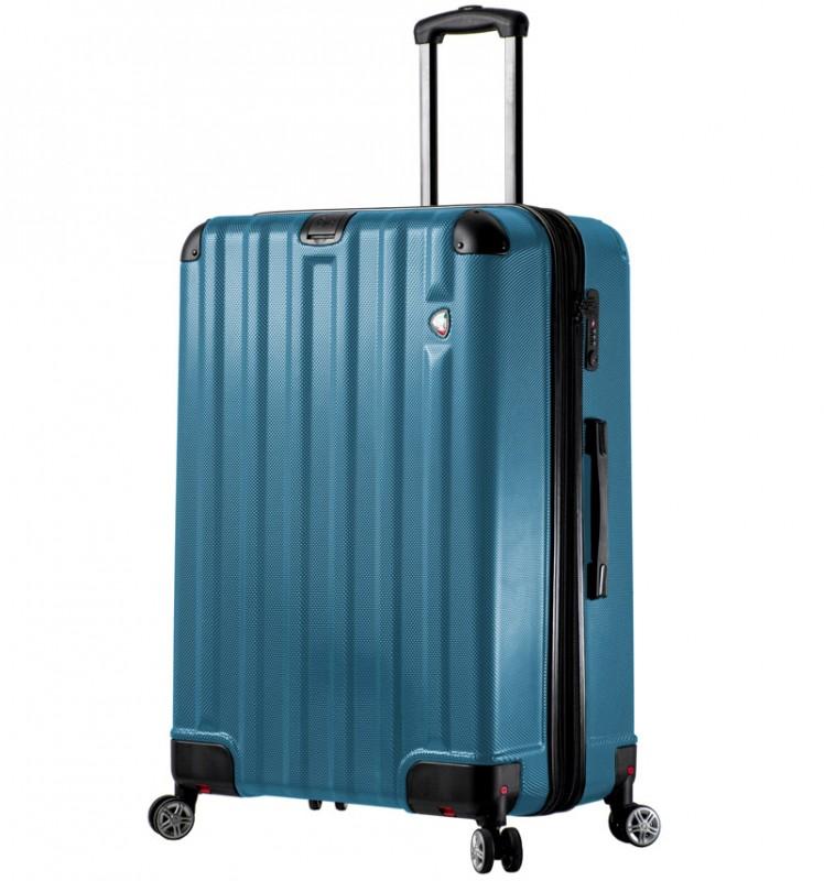 Mia Toro RUOTA Velký cestovní kufr se sklápěcími kolečky 80 cm - Blue