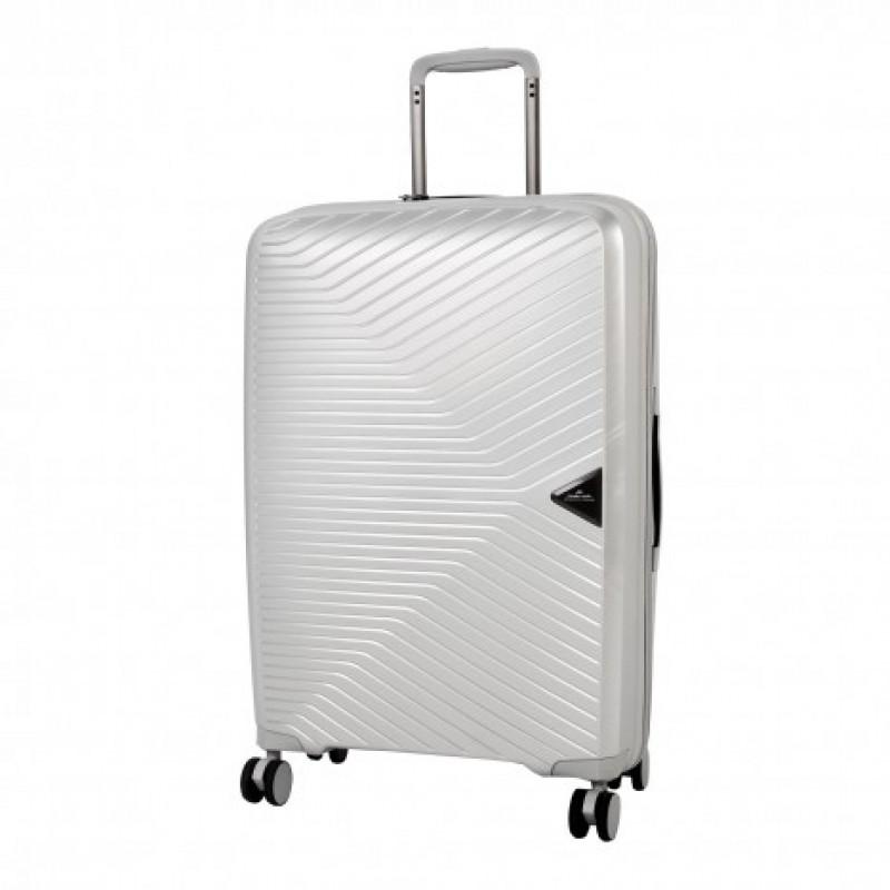 March GOTTHARD Elegantní kufr z odolného polypropylenu 77cm (Silver)
