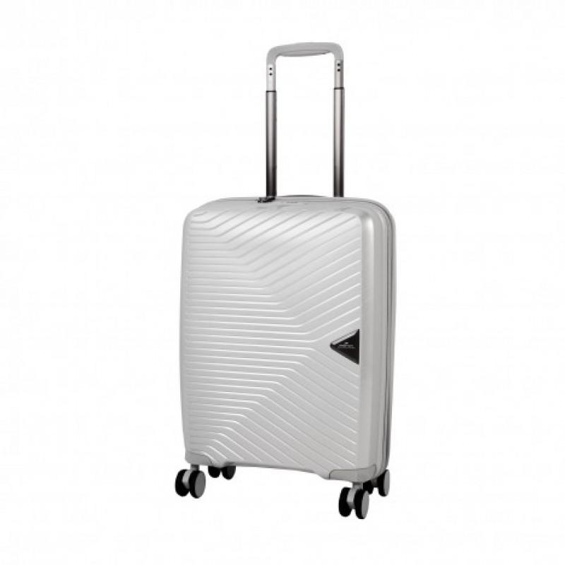 March GOTTHARD Elegantní kabinový kufr z odolného polypropylenu 55cm (Silver)