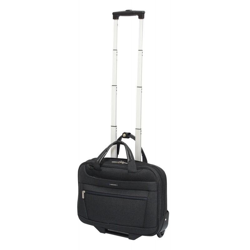 Vogart FENIX Textilní pilotní kufr na kolečkách 42cm (Black)