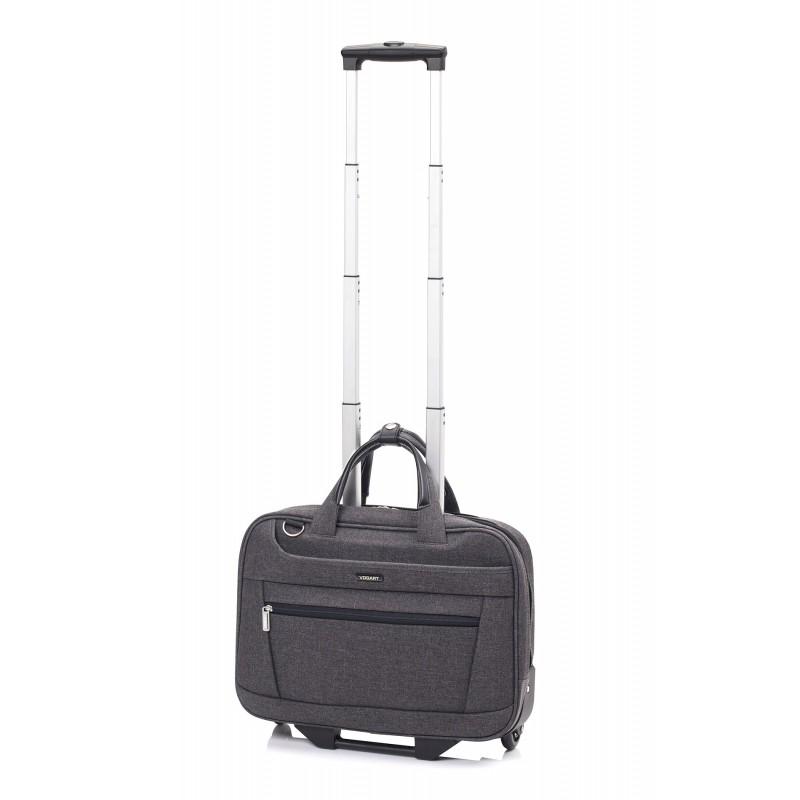 Vogart FENIX Textilní pilotní kufr na kolečkách 42cm (Grey)