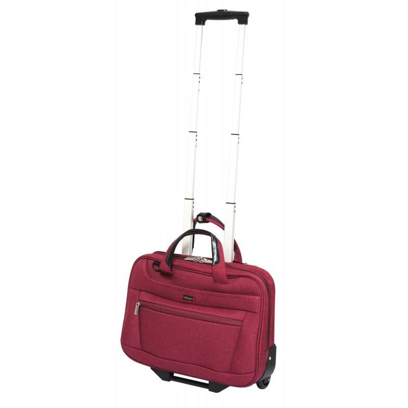Vogart FENIX Textilní pilotní kufr na kolečkách 42cm (Red)